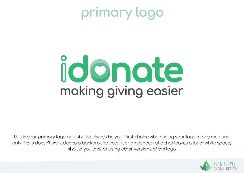 iDonate Logo Guidelines - Primary Logo