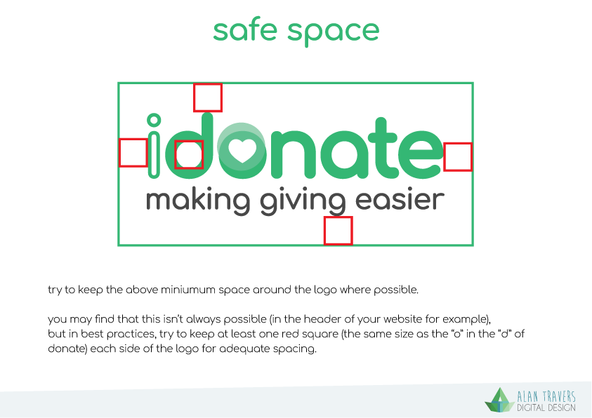 iDonate Logo Guidelines - Safe Space