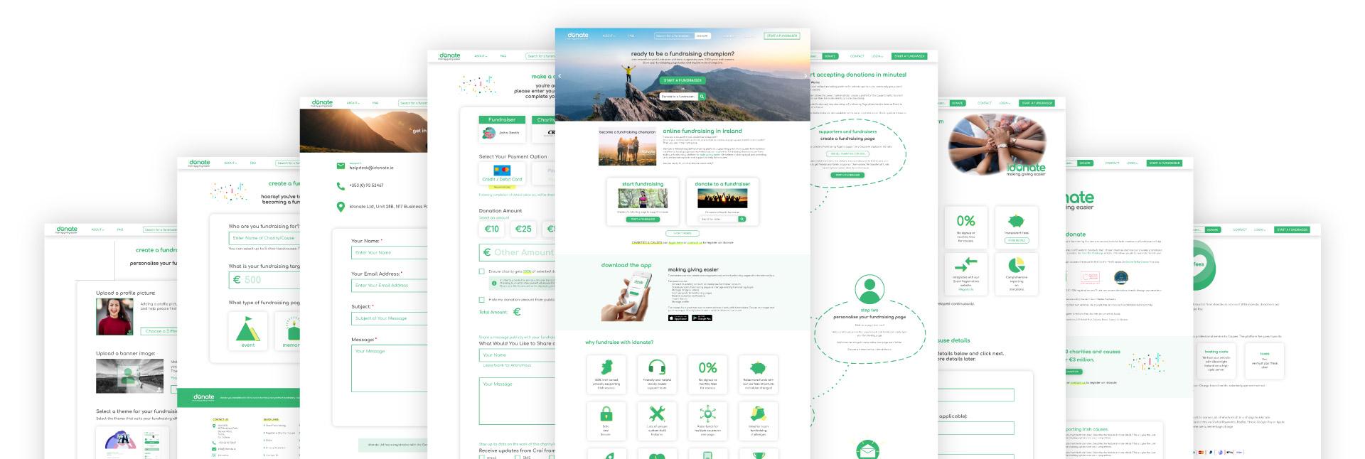 idonate Desktop Screens