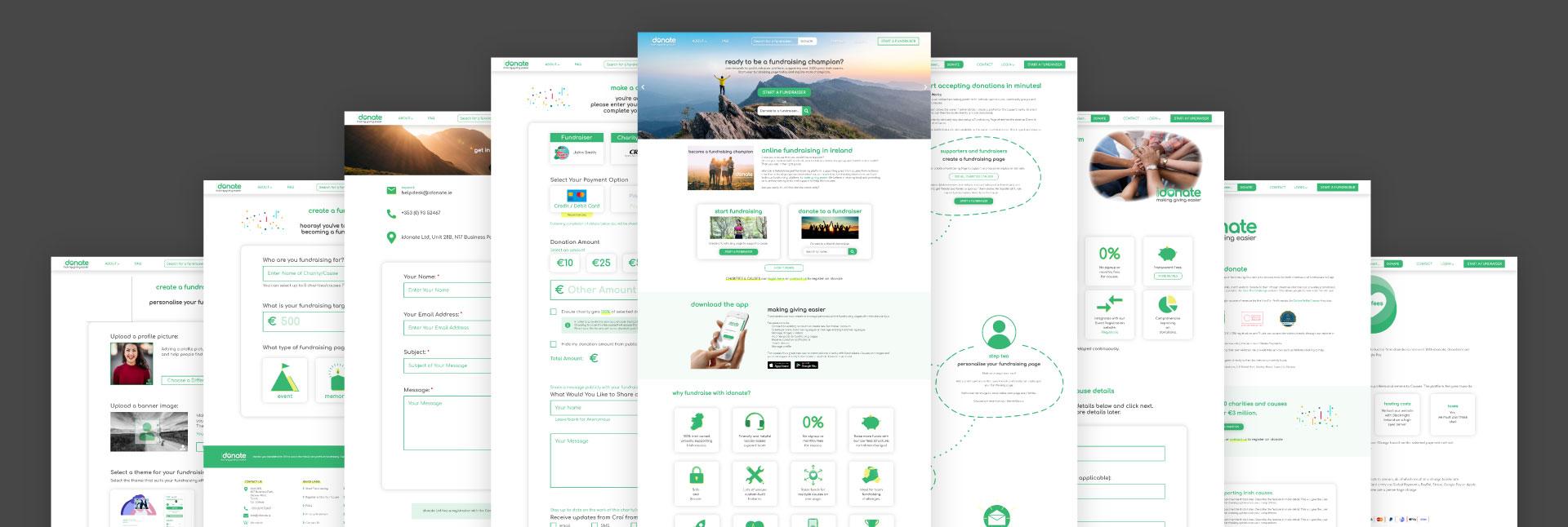 idonate Screens Desktop