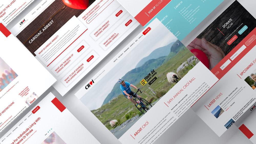 Croi Website Screen Design