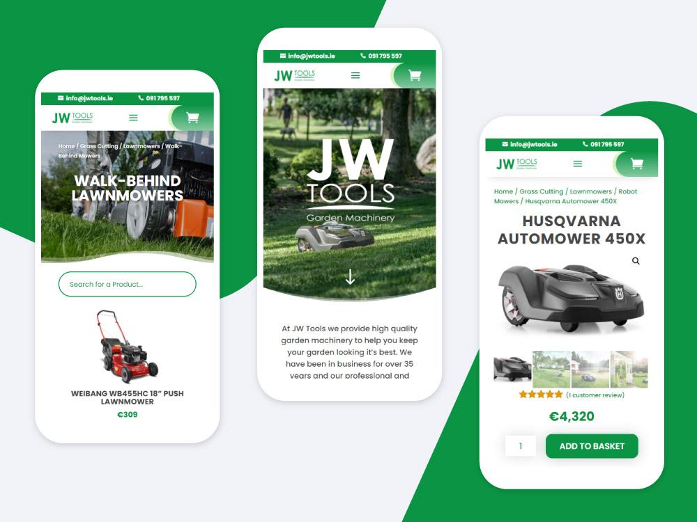 JW Tools E-Commerce Website Design