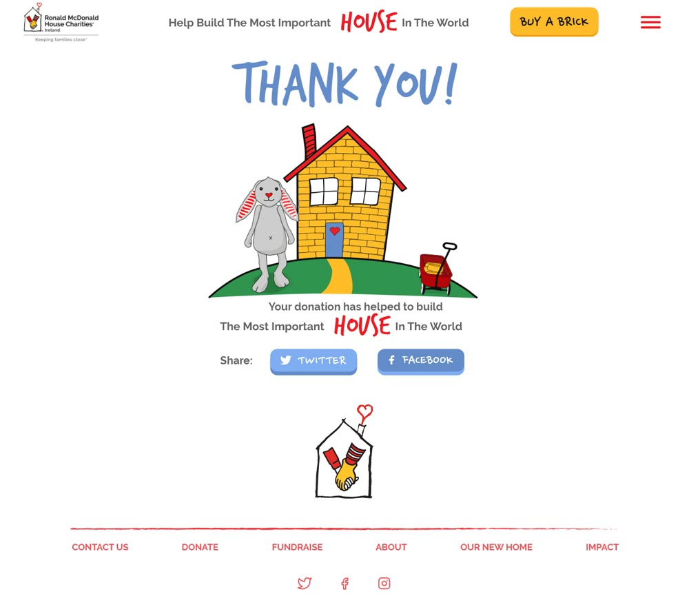 RMHC Thank You Page
