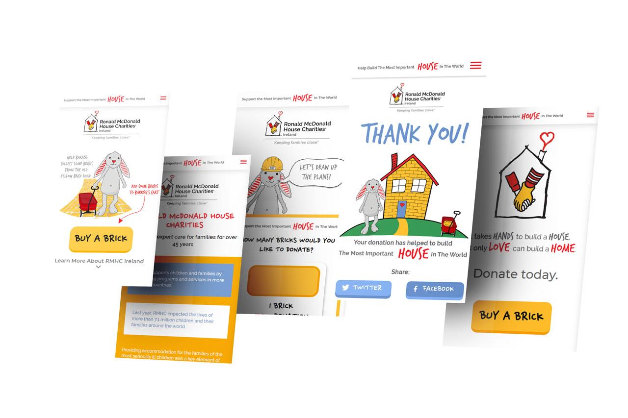 Ronald McDonald House Charities Mobile Screen Designs