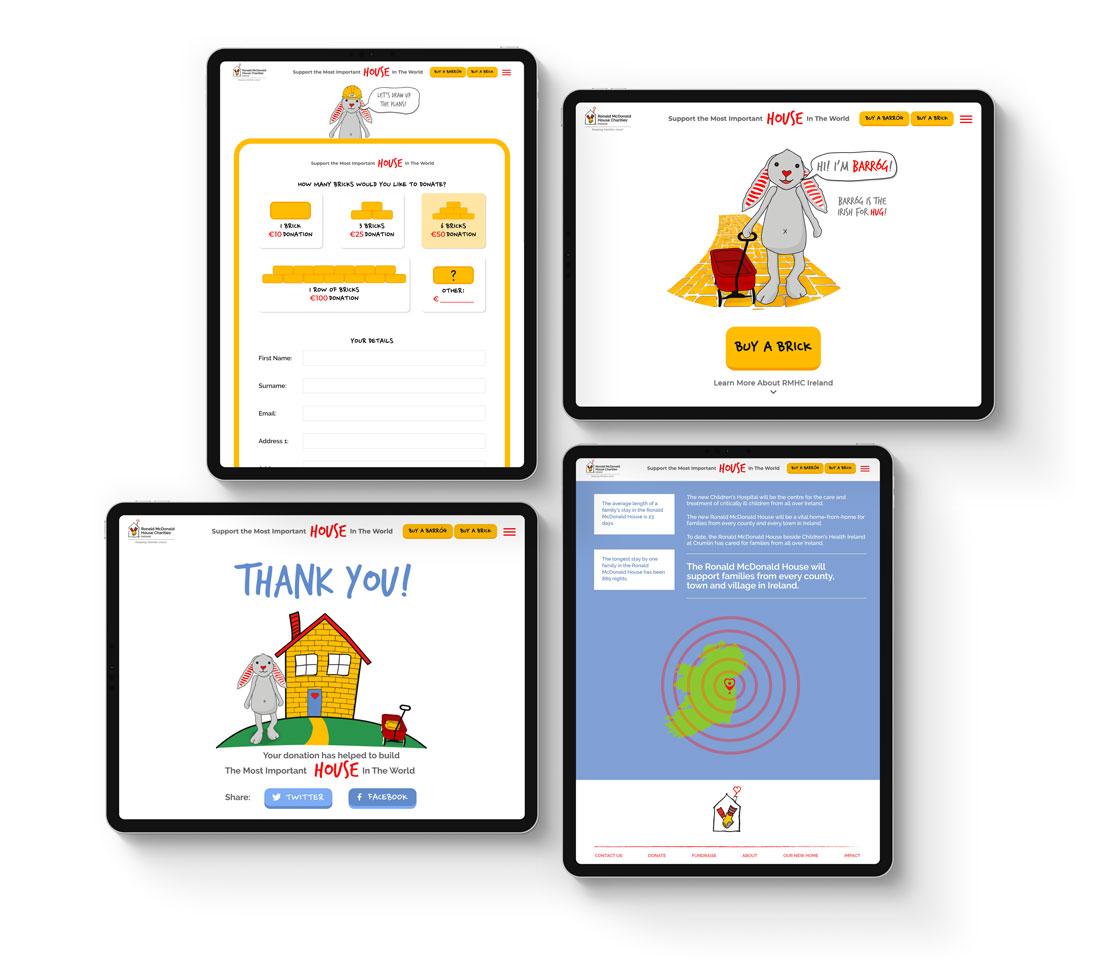 Ronald McDonald House Charities Screen Designs