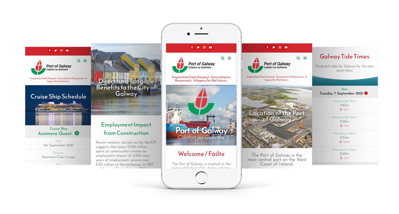 Port of Galway Responsive Design